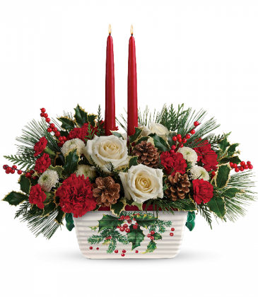 Teleflora's Halls Of Holly Centerpiece T18X100A