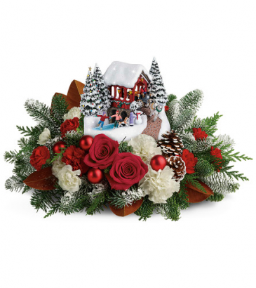 2018 Thomas Kinkade Snowfall Dreams  Holiday Arrangement