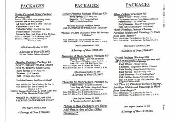 2019 - 2020 Cemetary Grave Packages