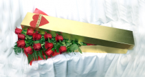 2019 In House Gold Rose Box with Roses Cut Flowers