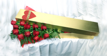 2020 In House Gold Rose Box with Roses Cut Flowers