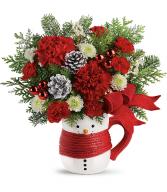 2019 Send a Hug Snowman Mug Bouquet by Teleflora T19X500A