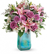 2019 Teleflora's Treasure Art Glass  Bouquet T19M500A