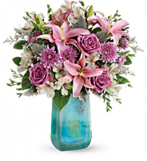 2019 Teleflora's Art Glass Treasure Bouquet T19M500A