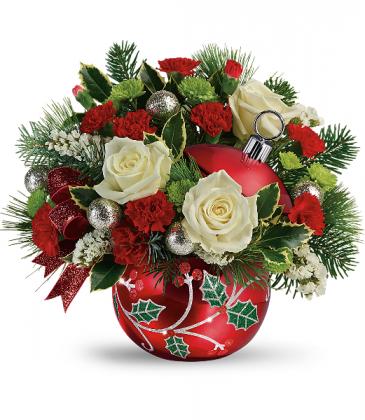 2019 Teleflora's Classic Holly Ornament Bouquet T19X405A