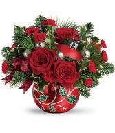 2019 Teleflora's Deck The Holly Ornament Bouquet T19X400A