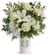 2019 Teleflora's White Snowflake Bouquet T19X310A