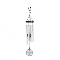 """21"""" Cross Stained Glass Windchime"""