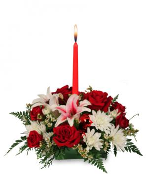DECK THE HALLS Holiday Centerpiece in Canon City, CO | TOUCH OF LOVE FLORIST AND WEDDINGS