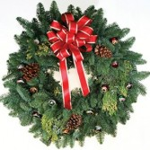 "20"" Fresh Evergreen Wreath NorthWest Evergreens"