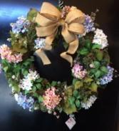 "22"" Hydrangea Wreath Wreath"