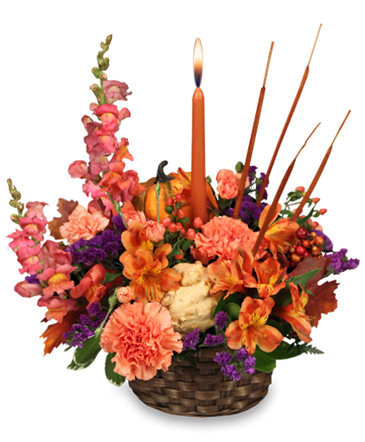 FRUITFUL FALL Basket Arrangement in Valley City, OH | HILL HAVEN FLORIST & GREENHOUSE