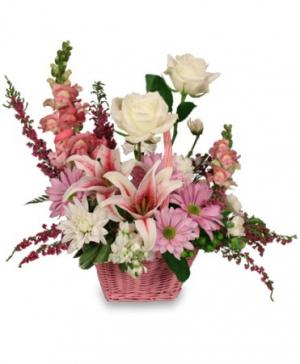 Garden So Sweet Flower Basket in Palmyra, VA | Country Rose Florist