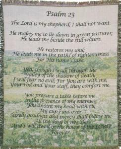 23rd Psalm Afghan