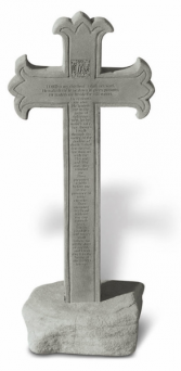 23rd Psalm  Cast Stone Cross