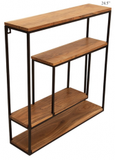 """24.5"""" Wooden and Metal Square Shelf"""