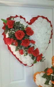 Bleeding Heart  Silk Floral Arrangment