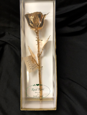 24 ct gold dipped rose in gift box 1 Gold dipped Rose