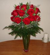 MI AMOR  24 Long Stem Ecuadorian Red Roses