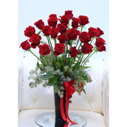 24 Ecuadorian premium long stem roses Long stem red roses