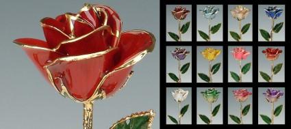 24 K Dipped Roses Keepsake Gift