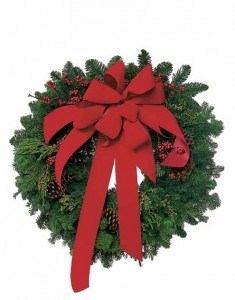 """24"""" Mixed western green wreath with cones Great Gift for the Season"""