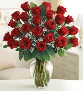24 Radiant Red Roses Arranged