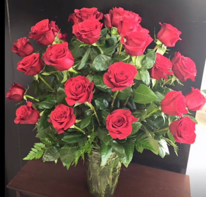 24 Red Rose Floral Arrangement