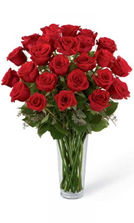 24 Red Roses in vase Vase Arrangement