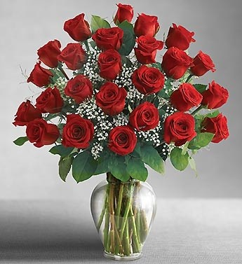24 Red Roses Also Available in Pink, Hot Pink, Yellow, Orange,  White & Lavender