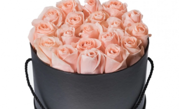 24 Romantic Wishes Pink Rose Box