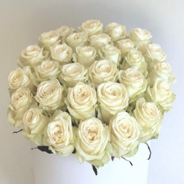 24 Romantic Wishes White Rose Box