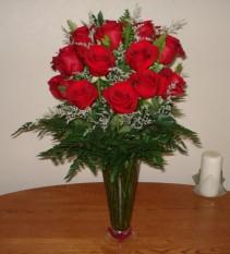 24 ROSAS GRANDES Y ELEGANTES Rosas  Rojas