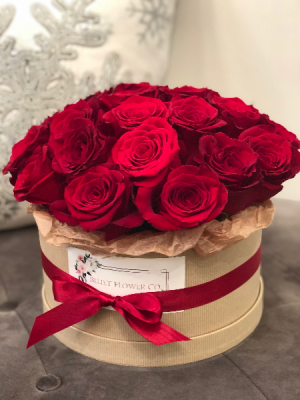 24 Rose Flower Box Arrangement Roses in Sparta, NJ | Bluet Flower Co.