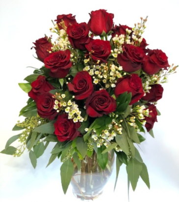 Two Dozen Roses Vase Arrangement
