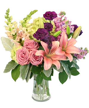 Lily's Afterglow Flower Arrangement in Wisner, NE | Two Blooms & A Bud