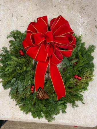 24inch Fresh Christmas Wreath