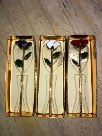 24k colored Gold Dipped roses