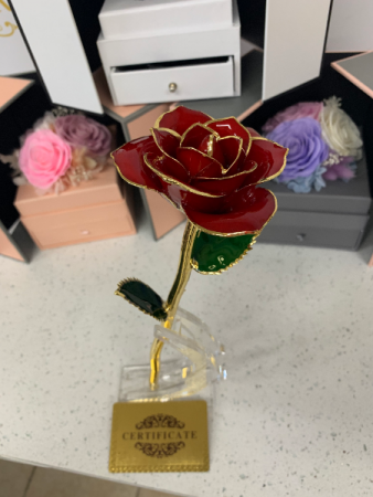 24k Gold dipped Real Rose  Dipped rose