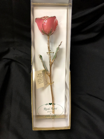 24K Gold dipped rose in variety of colors 1 Gold dipped Rose