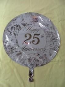 25th Anniversary Balloon Mylar Balloon
