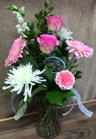 25th anniversary flowers  Fresh Anniversary arrangement