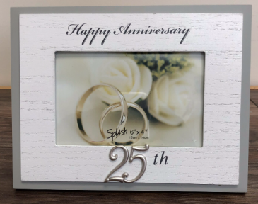 25th Anniversary Frame 25th Anniversary Giftware