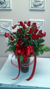 25th wedding anniversary wishes Long stem red roses in Newmarket, ON | THE ROSE PROS