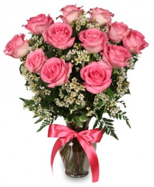 Primetime Pink Roses Arrangement in Middletown, NY | ABSOLUTELY FLOWERS