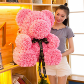 27 INCH ROSE TEDDY BEAR PINK DISPLAY BOX INCLUDED