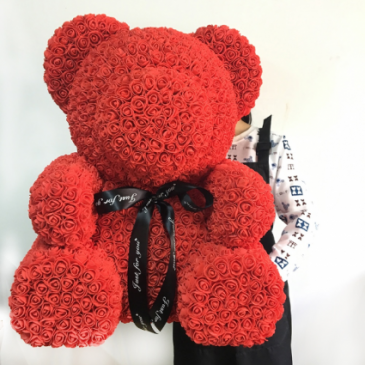 "27"" LARGE RED ROSE TEDDY BEAR DISPLAY BOX INCLUDED"