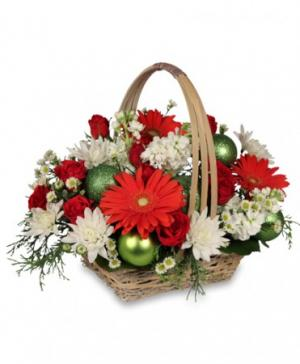 Be Jolly Basket Holiday Flowers in Solana Beach, CA | DEL MAR FLOWER CO