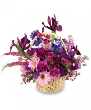 Garden of Gratitude Basket of Flowers in Galveston, TX | J. MAISEL'S MAINLAND FLORAL