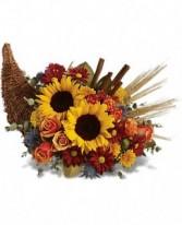 """ Autumn Cornucopia "" centerpeice"
